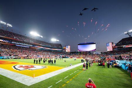 Strike Command, bombers, Super Bowl LV flyover