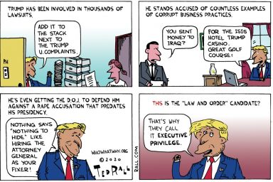 Donald Trump, law and order