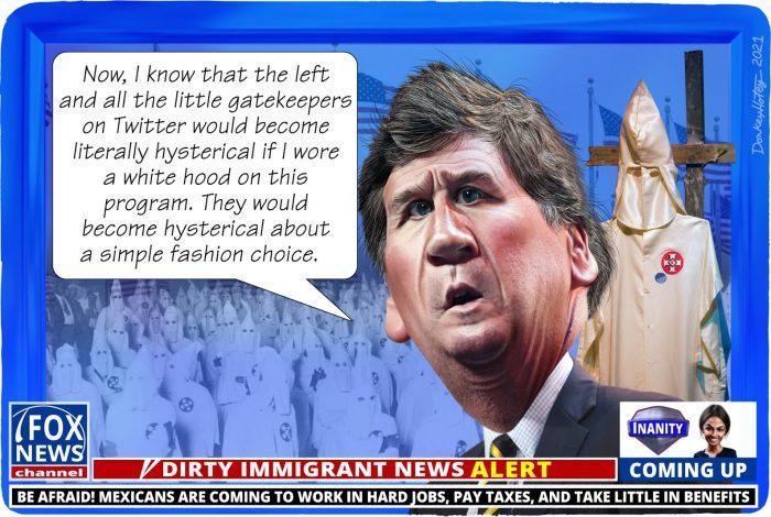 Tucker Carlson, FOX, KKK, Ku Klux Klan