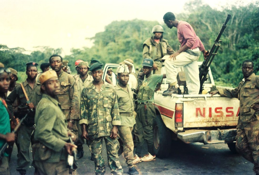 ULIMO rebels at the Po River