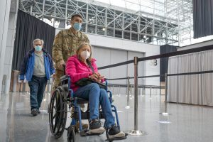 US Army, wheelchair, vaccination
