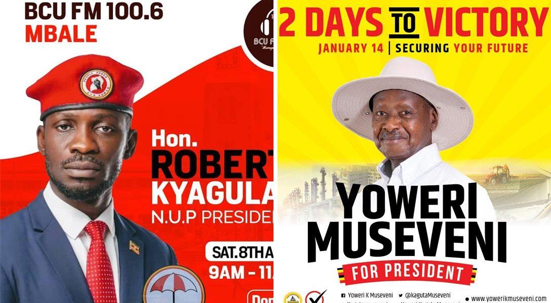 Bobi Wine, Yoweri Museveni, posters