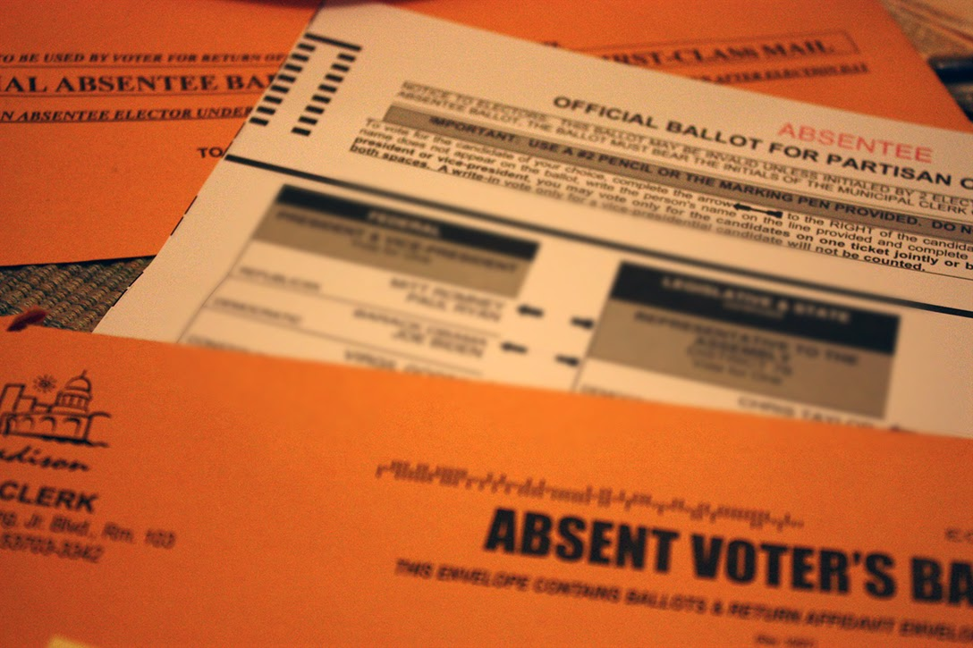 Wisconsin, mail-in ballot