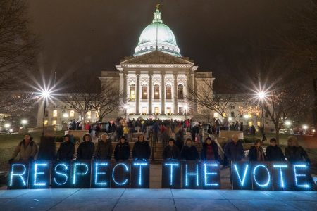 respect the vote, Wisconsin, capitol