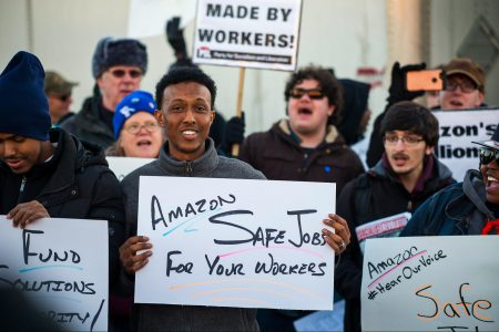 Amazon, union push, workers rights, equality