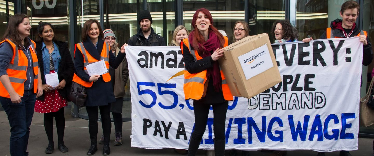 Amazon, union vote, worker's rights, wage inequality