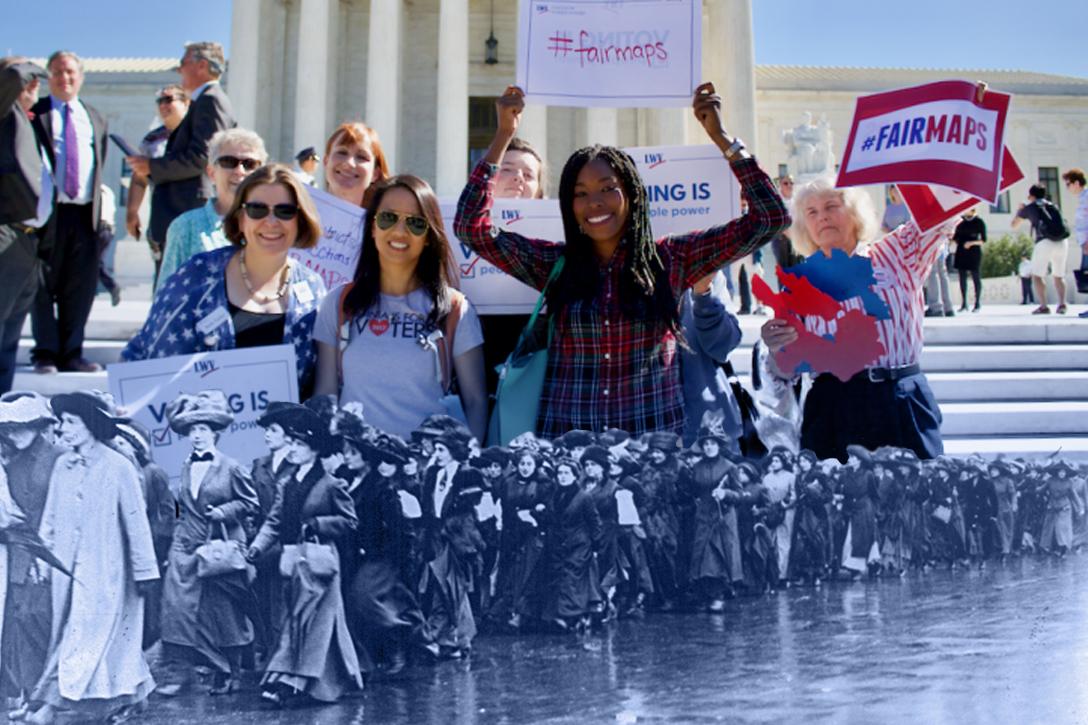 League of Women Voters, Suffragettes