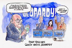 Rudy Giuliani, Elise Stefanik, Kevin McCarthy, Mitch McConnell, Jeopardy