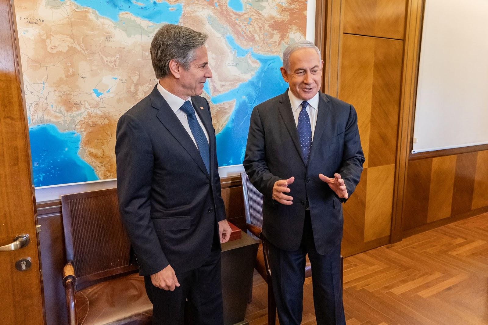 Antony Blinken, Benjamin Netanyahu