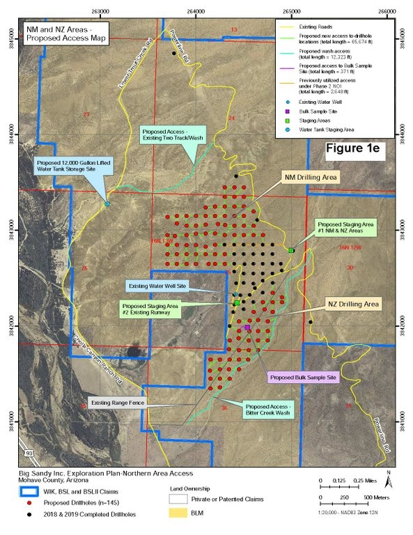 BLM map, drilling sites, Cholla Canyon Ranch