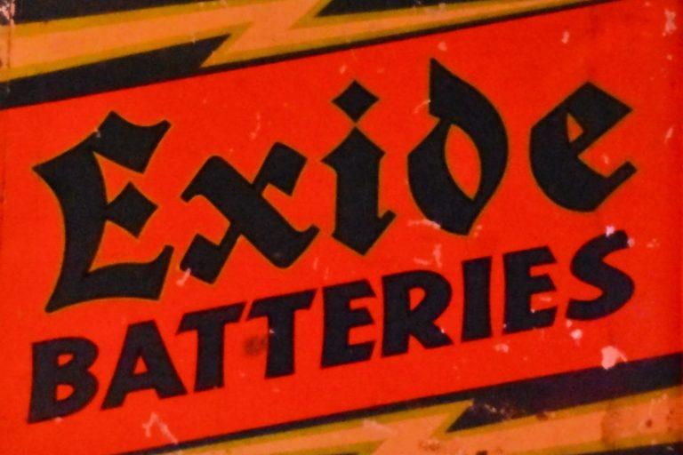 Exide Batteries, Sign