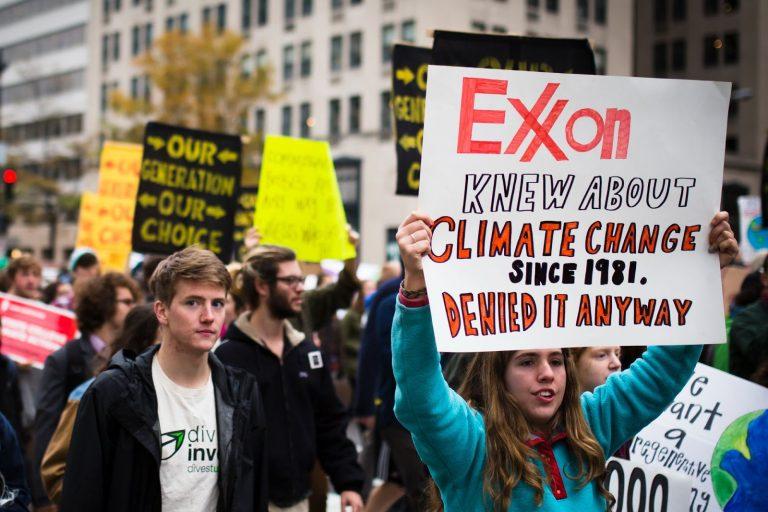 Exxon knew, protest