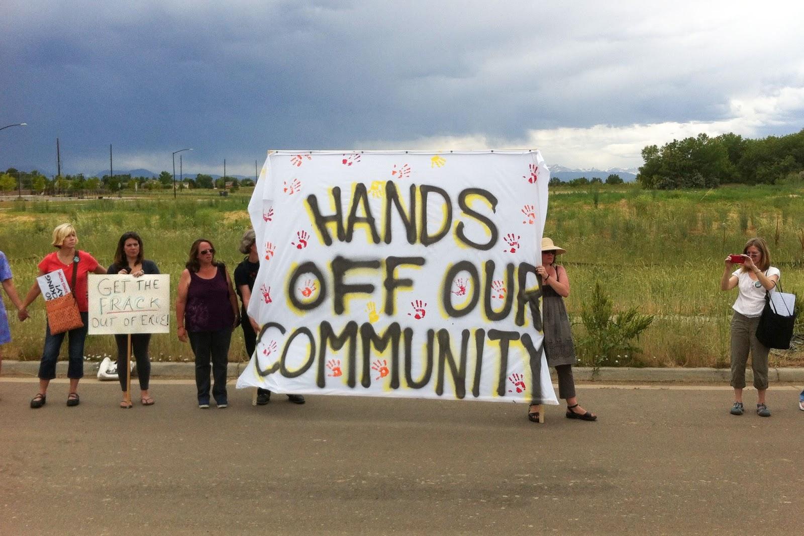 fracking, rally, Erie, CO