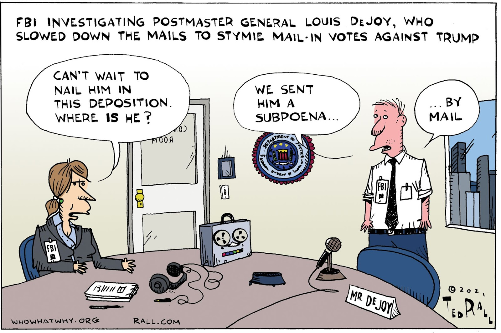 Post Office, Louis DeJoy, FBI