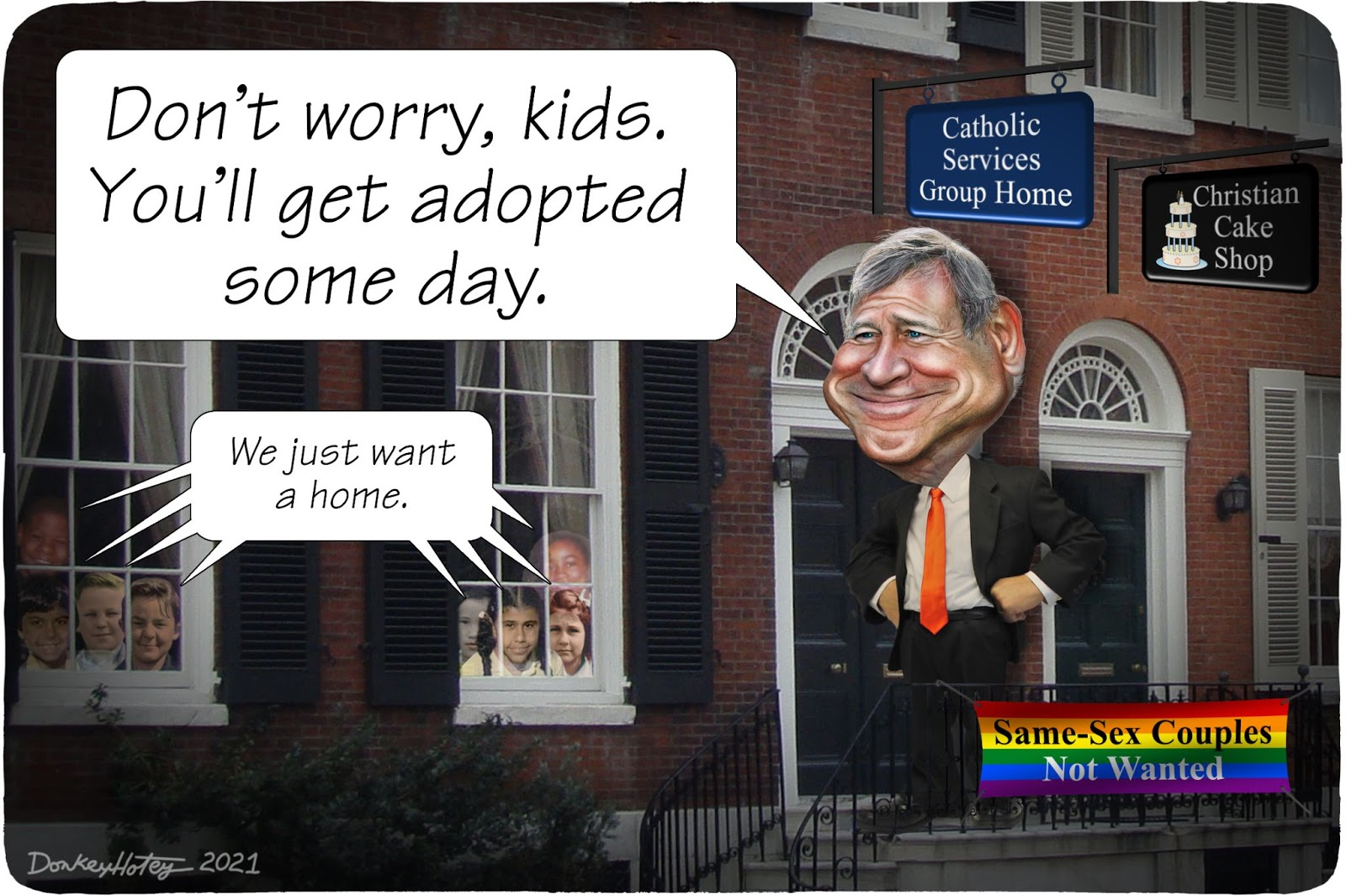 John Roberts, religious freedom, adoption, LGBTQ