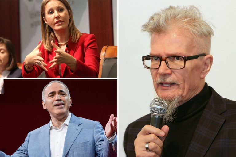 Ksenia Sobchak, Garry Kasparov, Eduard Limonov