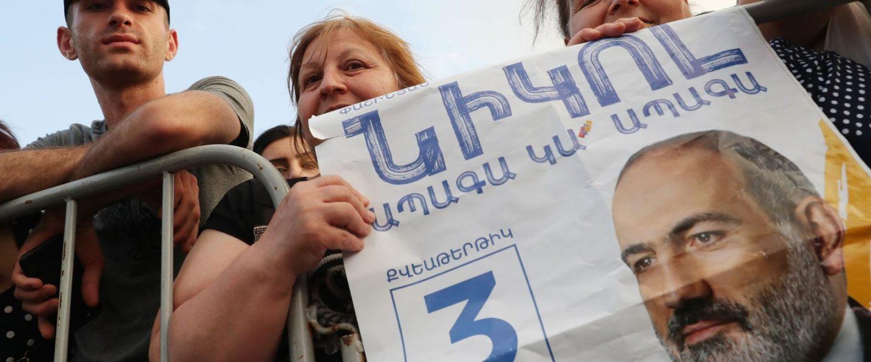 Nikol Pahinyan, Republic Square