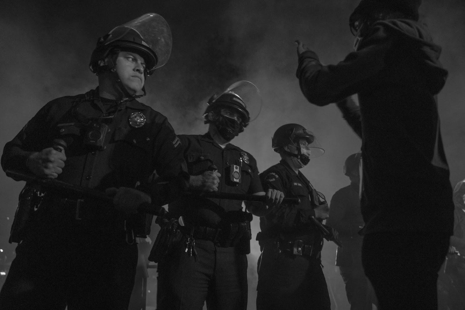 Police ready batons
