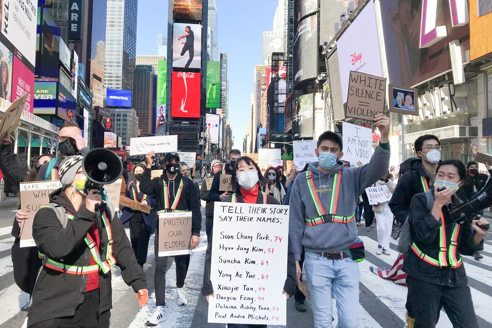 protest against Asian hate