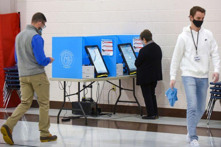 touchscreen voting, Dalton, GA