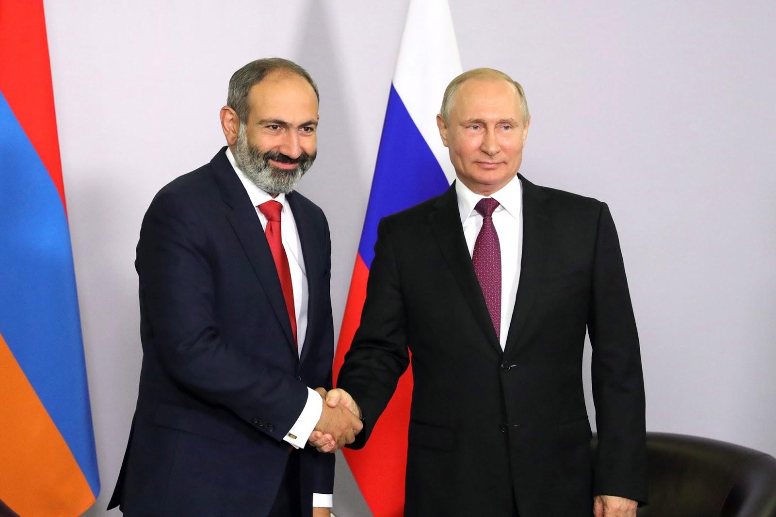 Vladimir Putin, Nikol Pashinyan