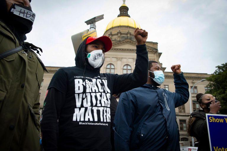 Voter suppression, protest, Atlanta