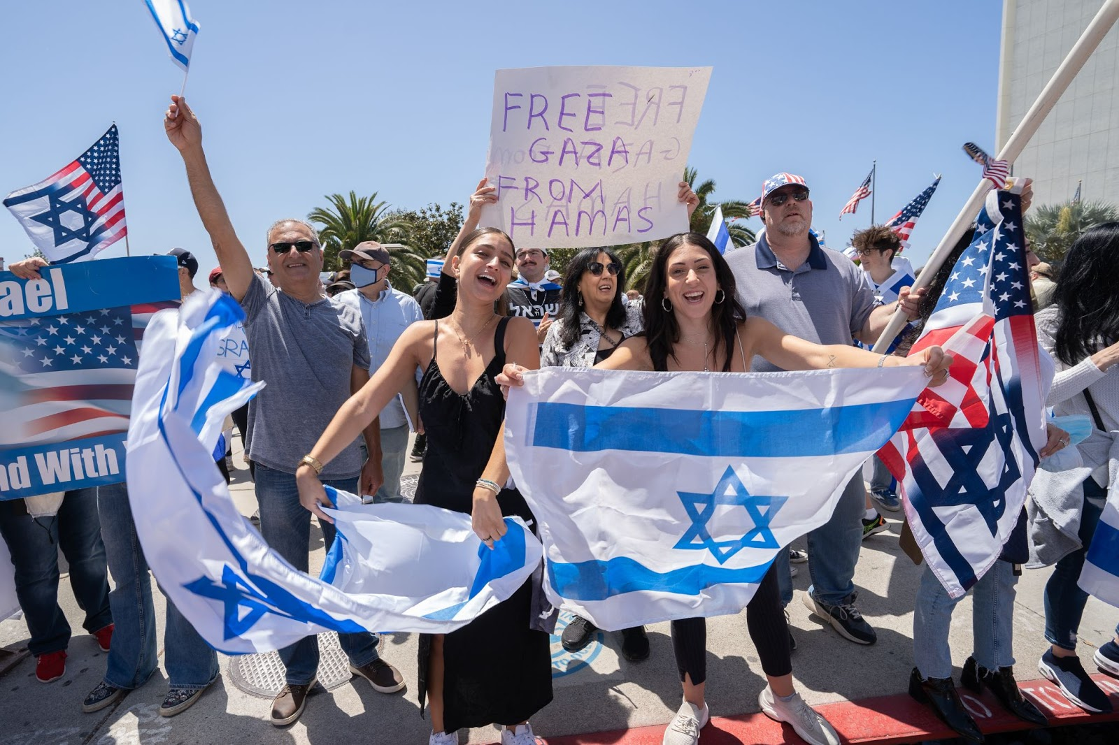 Zionist protesters
