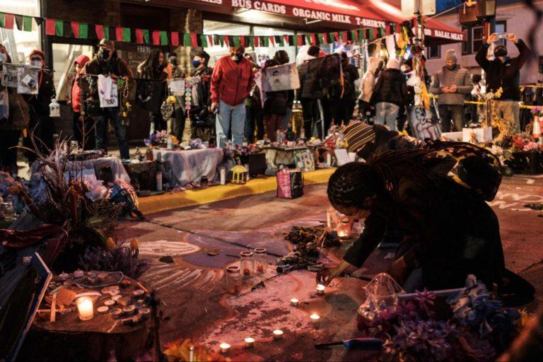 George Floyd, Minneapolis square, memorial, policing, global racial reckoning