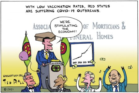 COVID-19, Red States, vaccination