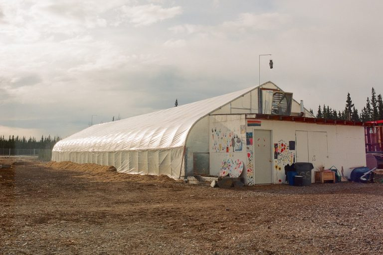 biomass-heated greenhouse, Tok school