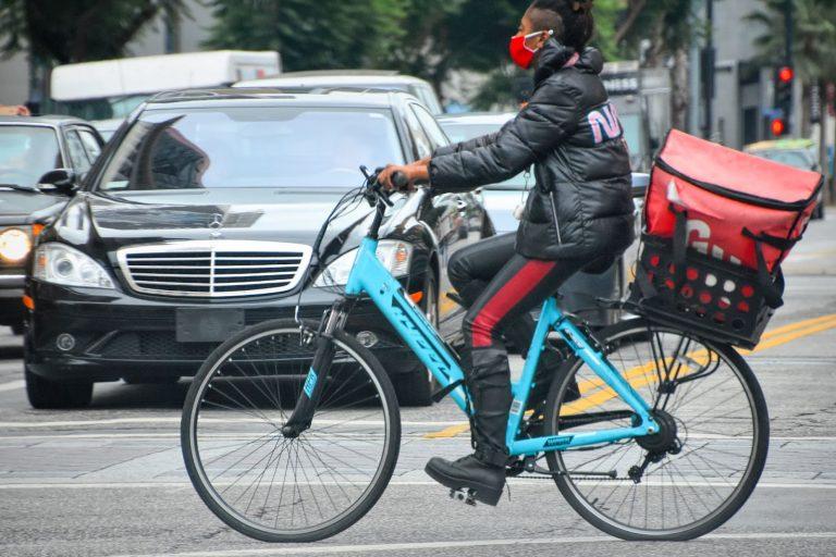 Grubhub, delivery, bicycle
