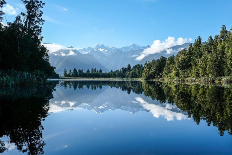 Mount Cook, Mount Tasman, Lake Matheson