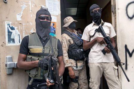 Police, guard, senators, Haiti