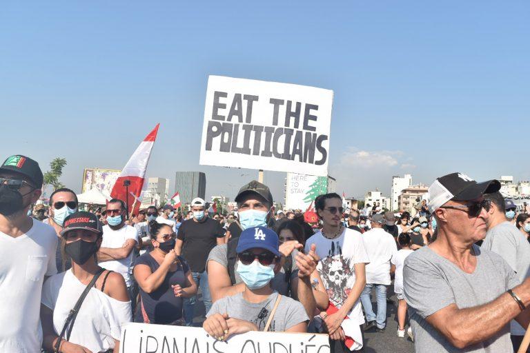 Eat the Politicians, Sign, Beirut, Lebanon