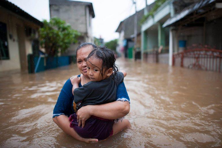 Flood waters, Jakarta