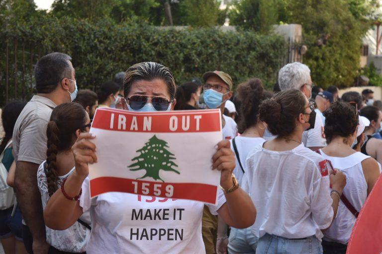 Iran, Sign, Beirut, Lebanon