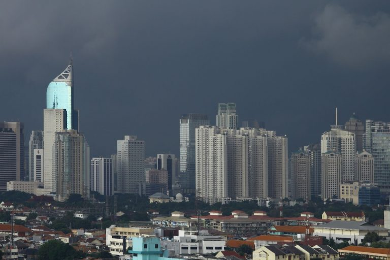 Jakarta, Indonesia skyline.