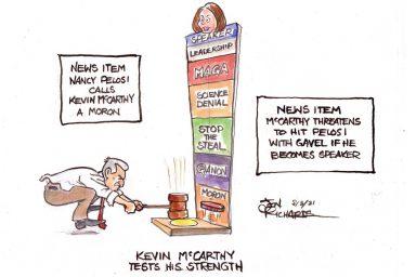 Kevin McCarthy, moron, Nancy Peloci
