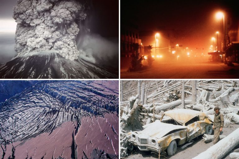 Mount St. Helens, USFS, montage