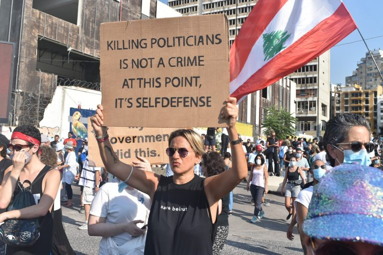 Self Defence, Sign, Beirut, Lebanon