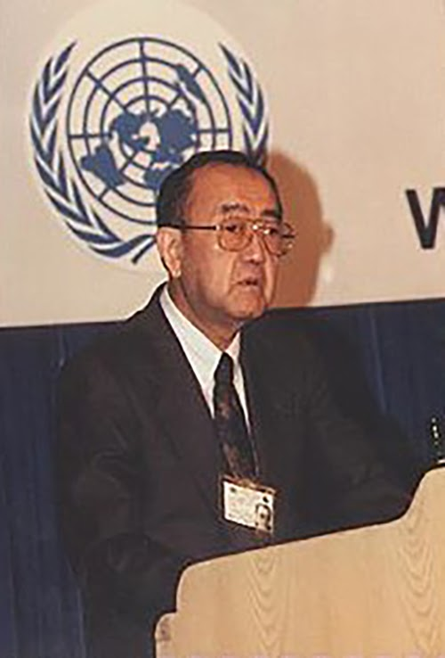 WHO Director-General, Hiroshi Nakajima