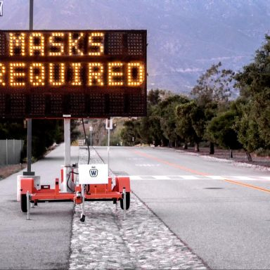 masks required sign, California