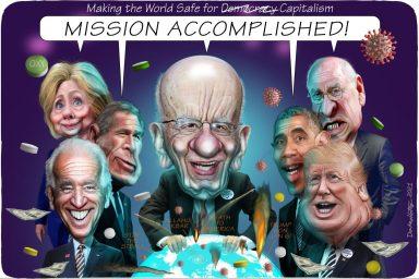 Rupert Murdoch, Hillary Clinton, George W Bush, Joe Biden, Dick Cheney, Barack Obama, Donald Trump