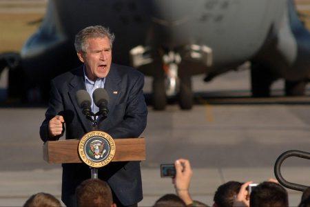 George W Bush, war on terror, Charleston