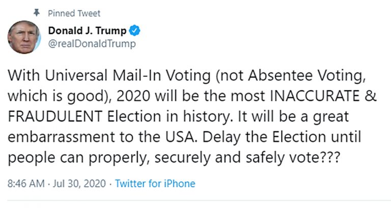 universal mail-in voting, fraud