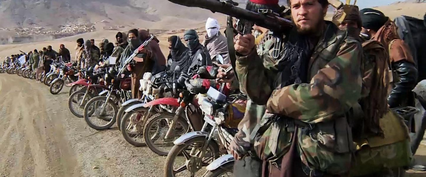Taliban fighters, motorcycles, Afghanistan