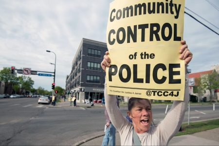 sign, Community Control of the Police, Minneapolis