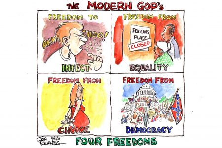 GOP, Republicans, COVID-19, voting, abortion