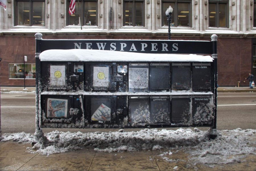 Newspaper boxes, Chicago