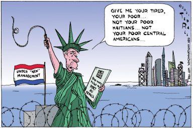 immigration, Statue Liberty, refugees, asylum